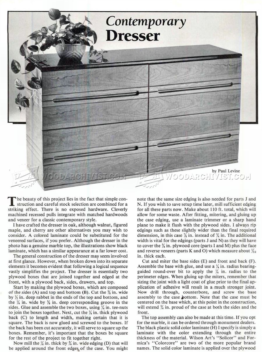 #1929 Contemporary Dresser Plans