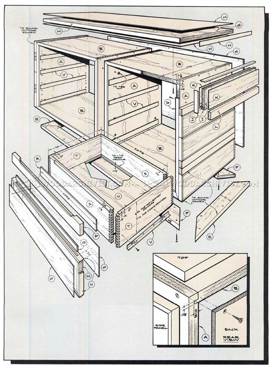 Contemporary Dresser Plans