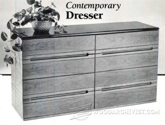 1929-Contemporary Dresser Plans