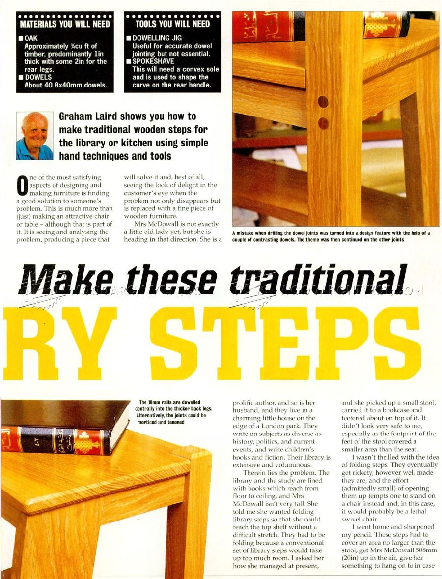 Woodworking Plans For Library Steps Wood Working Projects