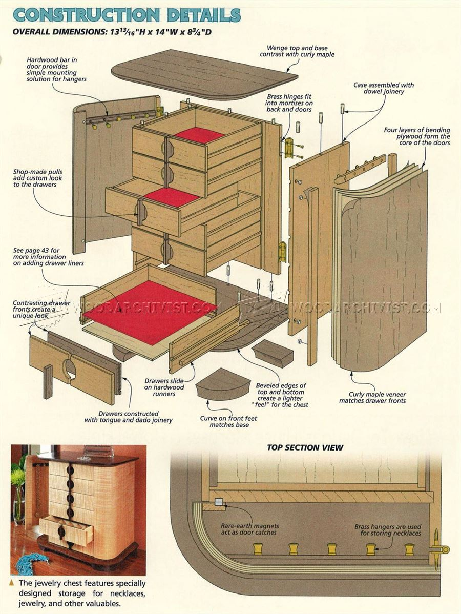 Book Of Jewelry Chest Woodworking Plans In Uk By Liam | egorlin.com