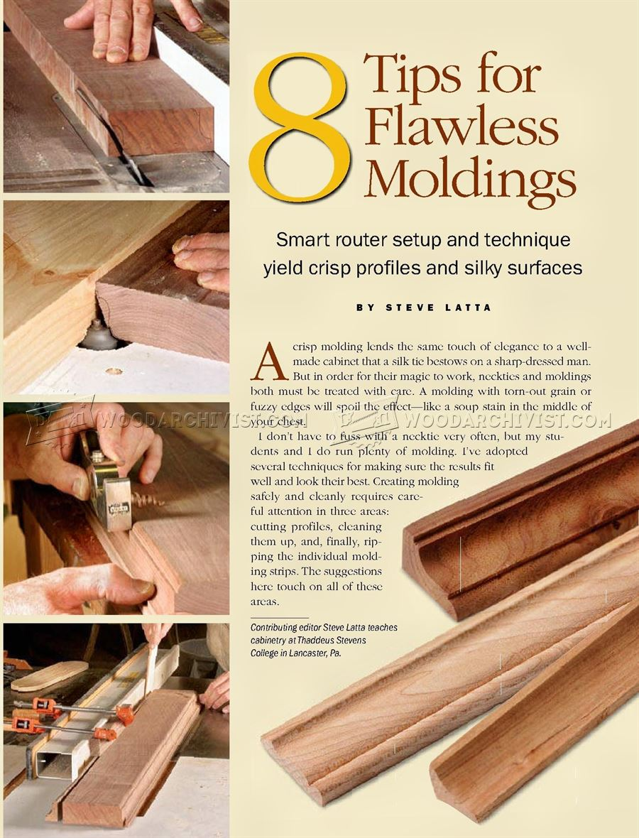 Routing Furniture Molding