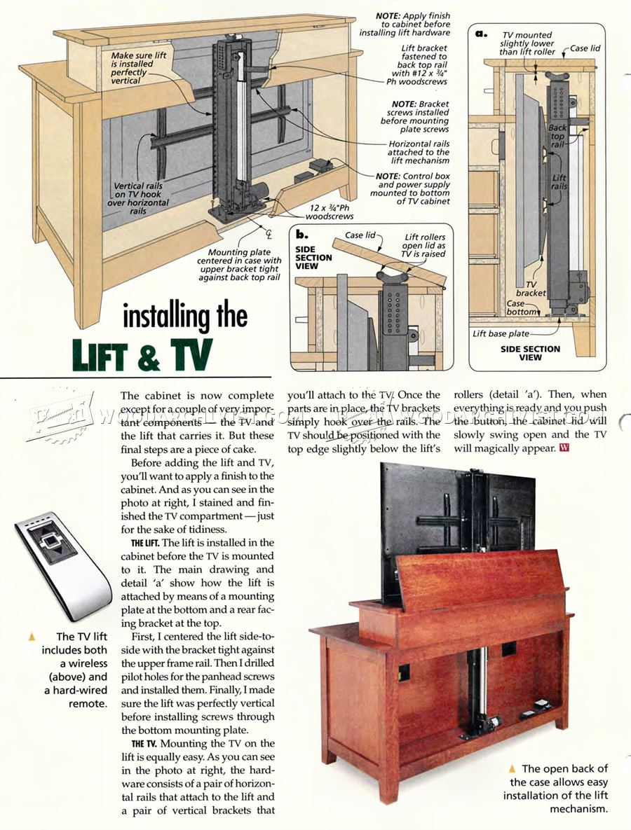 Tv Lift Cabinet Plans Miketsai Co