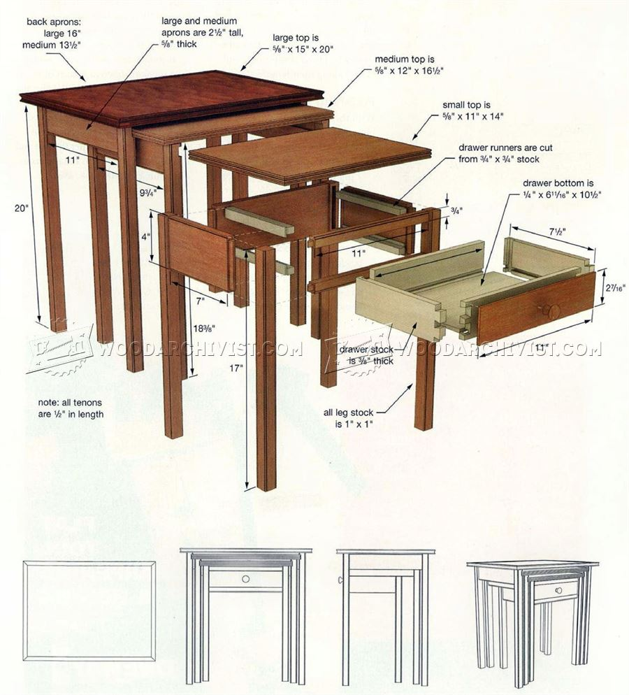 Nested Tables Plans