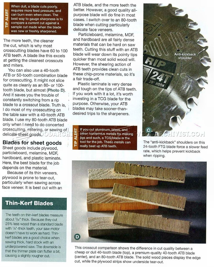 Choosing Table Saw Blades