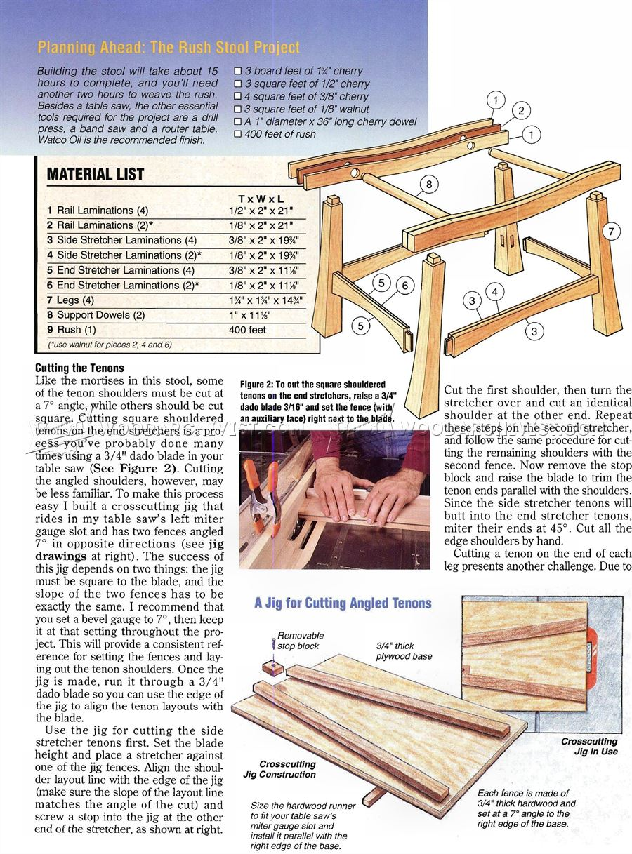 Rush Covered Stool Plans