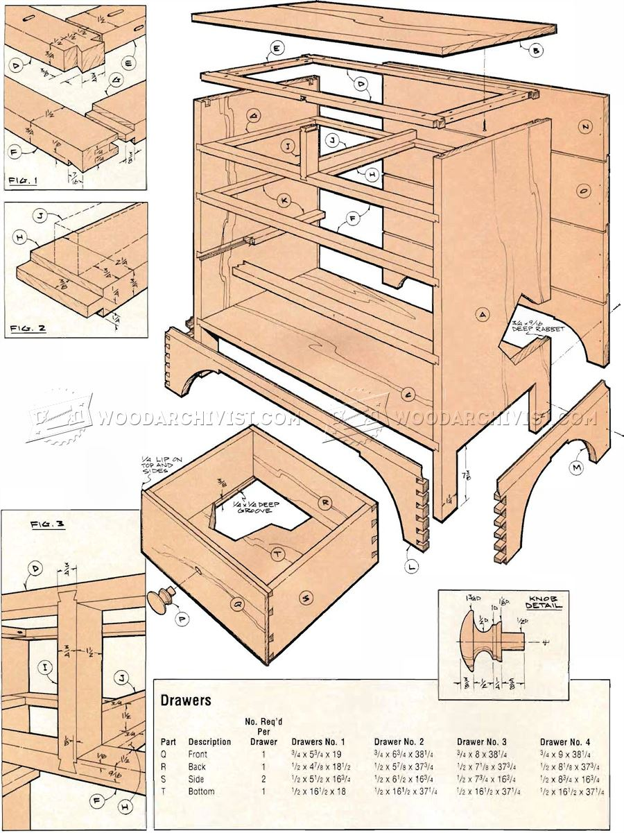 Chaker Chest of Drawers Plans