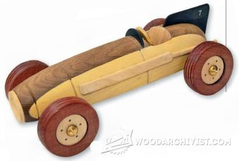 1961-Wooden Toy Racing Car Plans