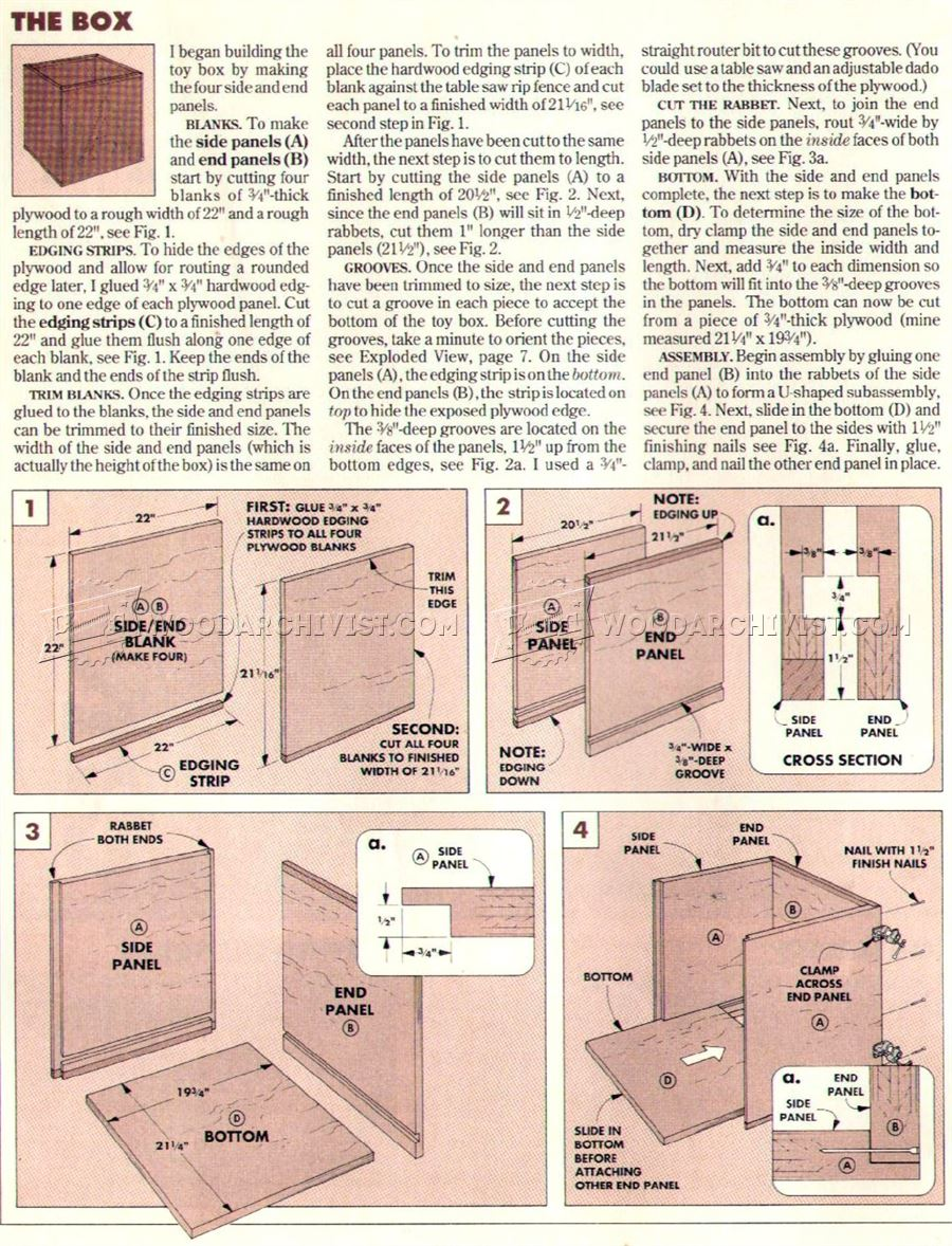 Wooden toy box plans woodarchivist for Toy plans