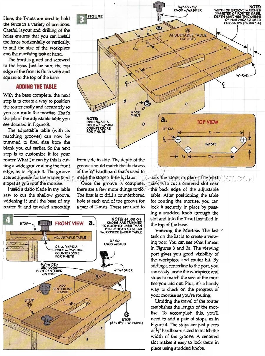 #1966 Router Mortising Jig Plans