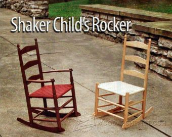 1968-Childs Shaker Rocking Chair Plans