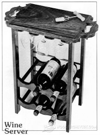 1974-Wooden Wine Rack Plans