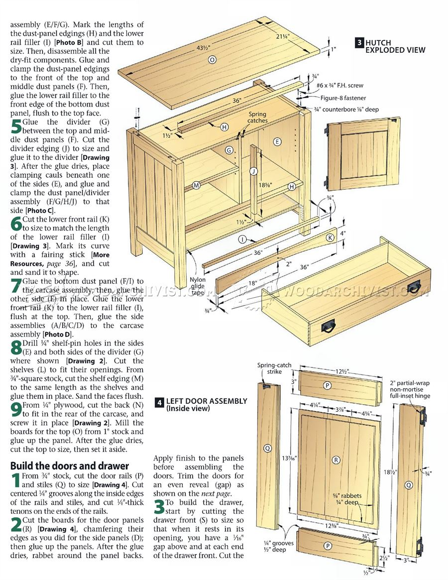 Arts and crafts furniture plans for Furniture plans