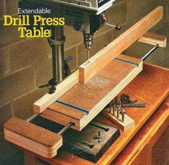 1985-Extendable Drill Press Table Plan