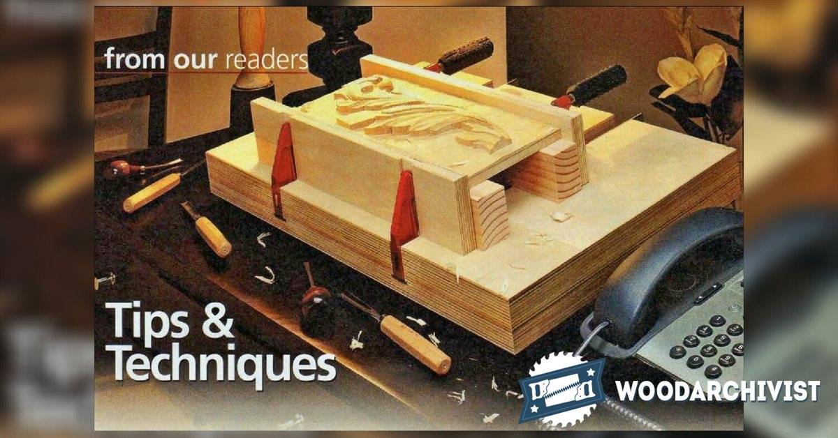 Tabletop carving vise plans woodarchivist