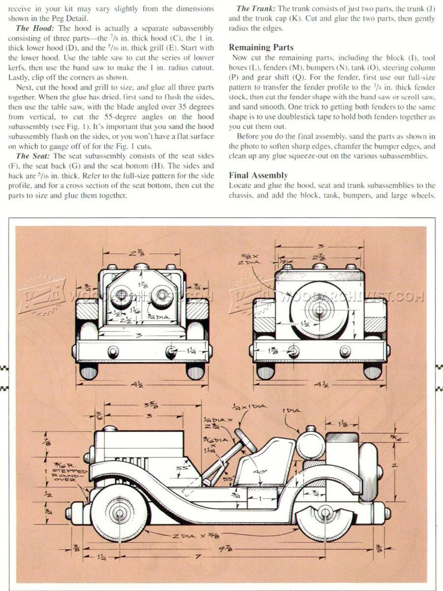 Wooden Sports Car Plans