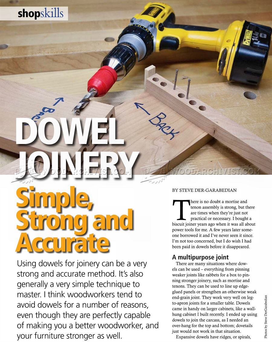 Dowel Joinery