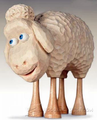 2002-Sheep Carving - Wood Carving Patterns