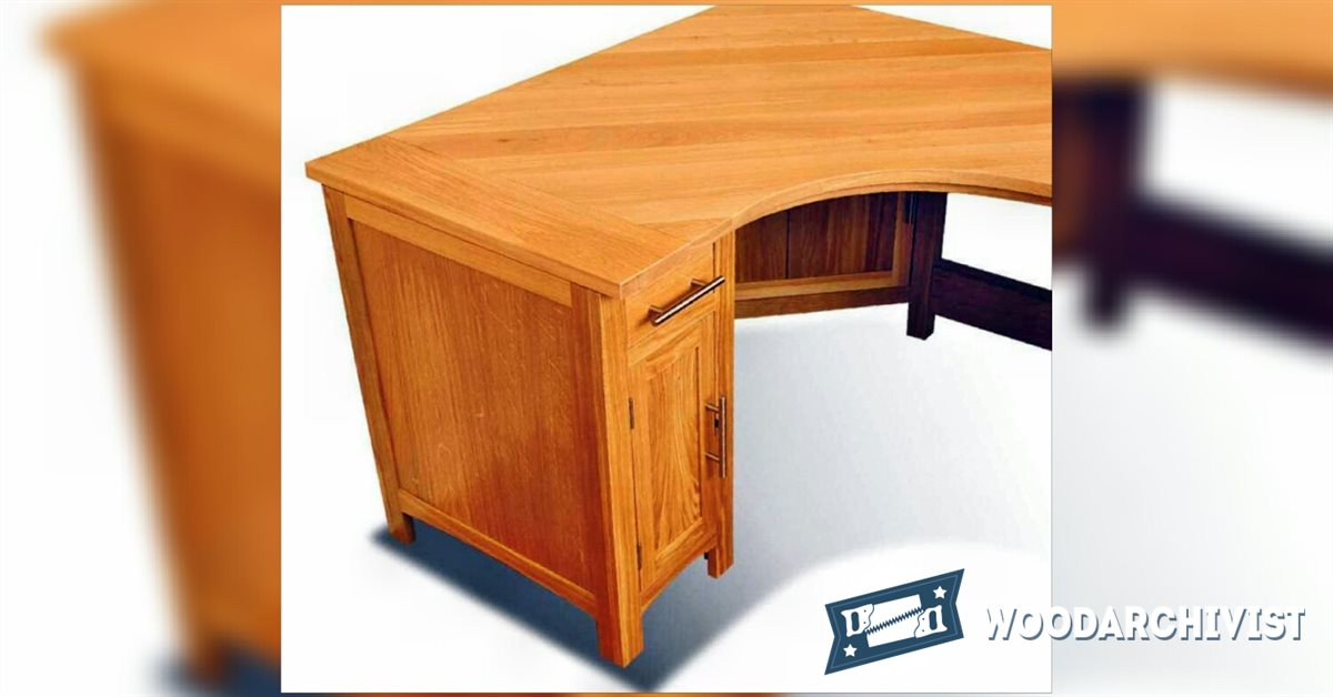 Corner Computer Table Designs: Corner Computer Desk Plans • WoodArchivist