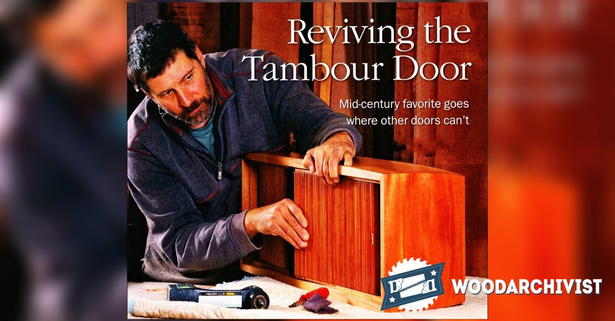 Making Tambour Doors Woodarchivist