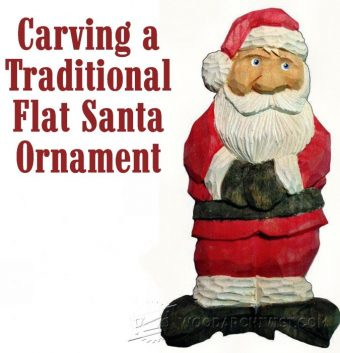 2007-Carving Santa Ornament - Wood Carving Patterns