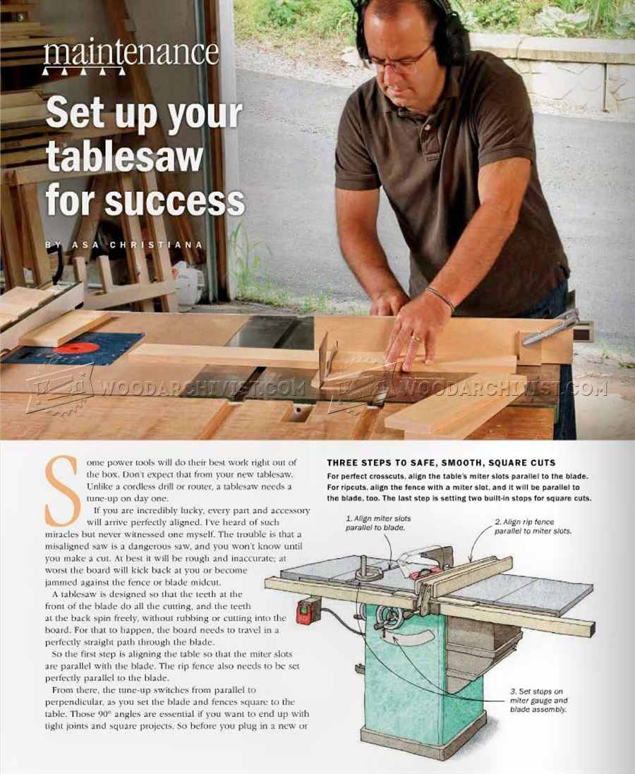 Table Saw Setup