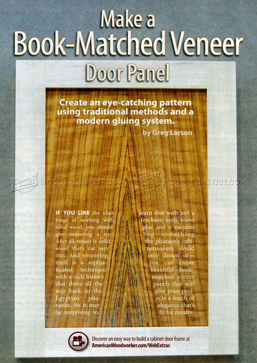 Make Book Matched Veneer Door Panel