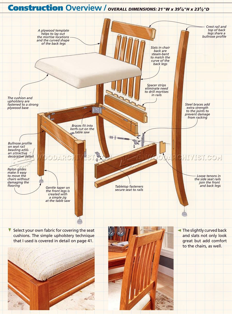 Wood dining chair plans dining room chair woodworking for Dining room plan