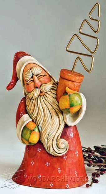 2038-Santa Carving - Wood Carving Patterns