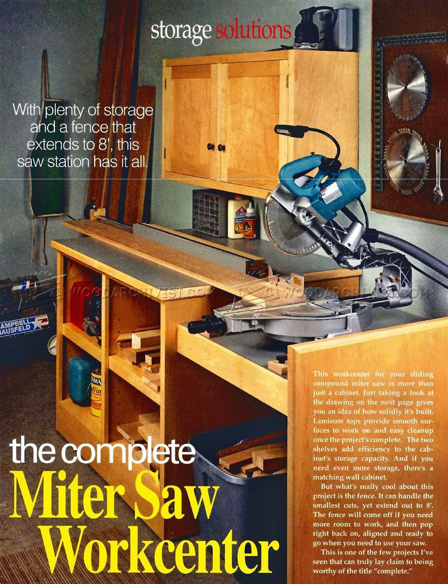 #2040 Miter Saw Workstation Plans