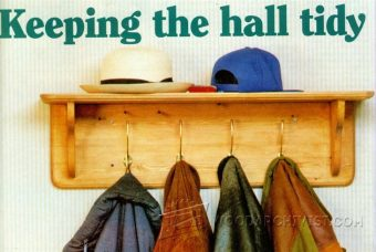 2042-Hat and Coat Rack Plans