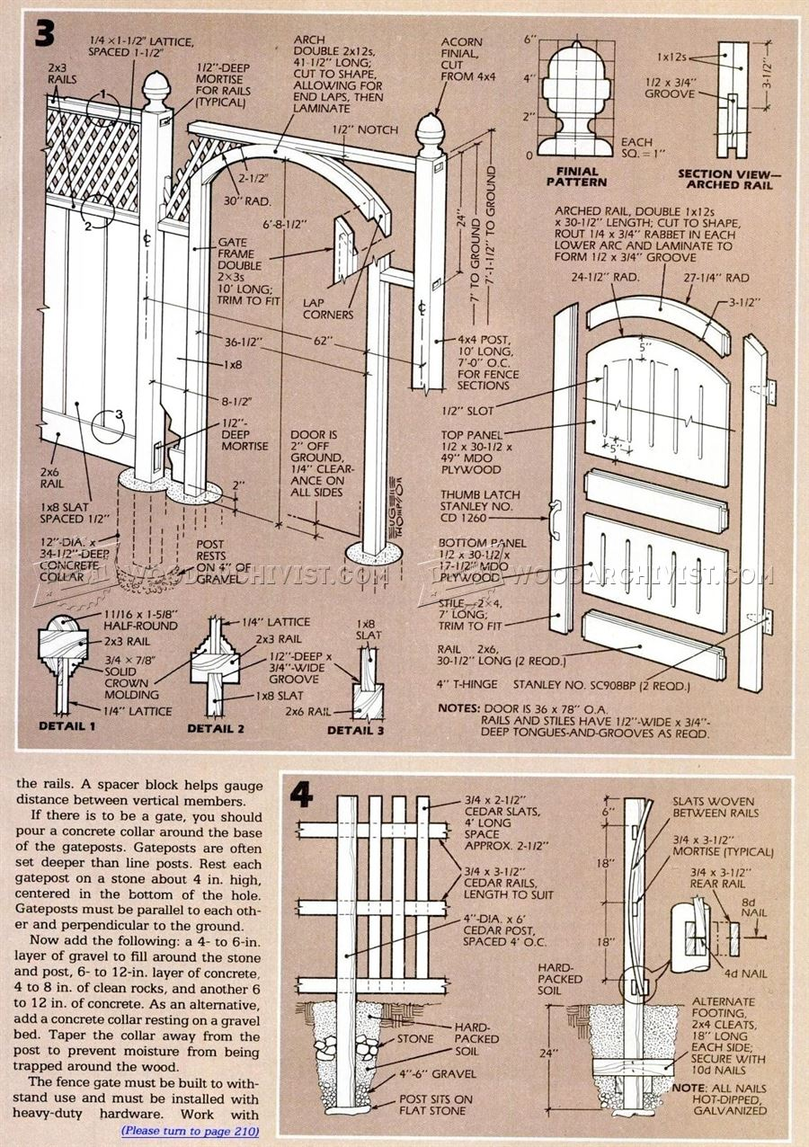 Wood Fence Plans