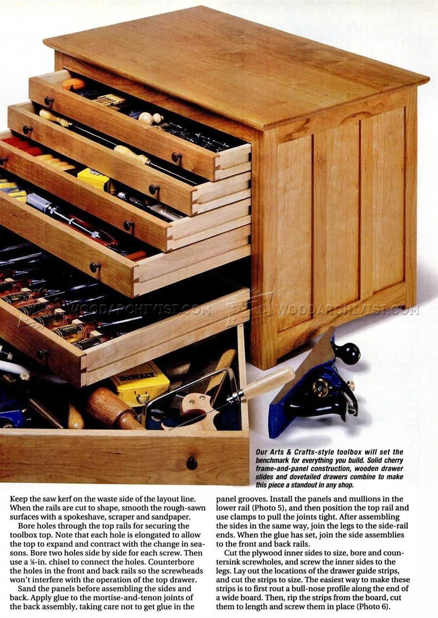 Woodworking toolbox plans with popular innovation for Wood plans online