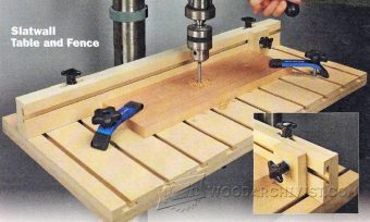 2053-Drill Press Table and Fence Plans