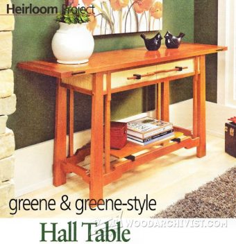 2057-Hall Table Plans