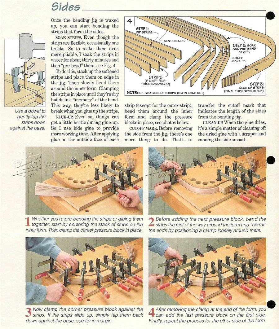 #2058 Bentwood Serving Tray Plans