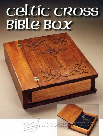 2065-Carving Celtic Cross Bible Box