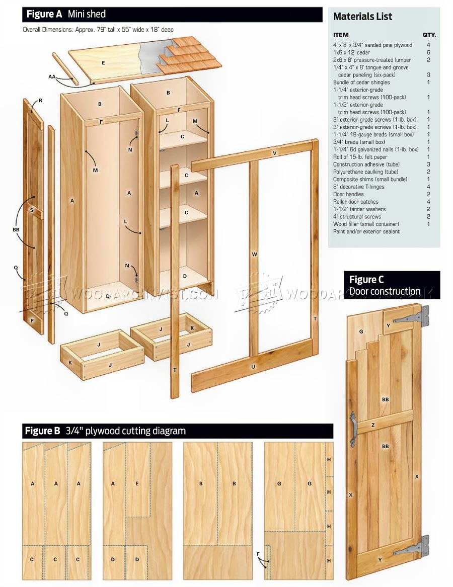 small shed plans outdoor plans