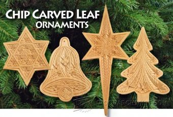 2075-Chip Carved Leaf Ornaments