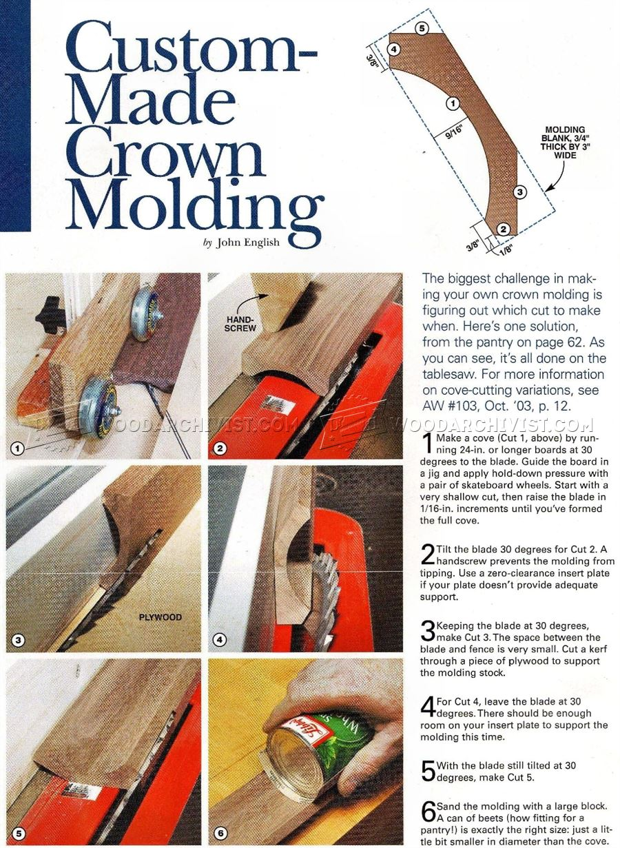 Table Saw Crown Molding