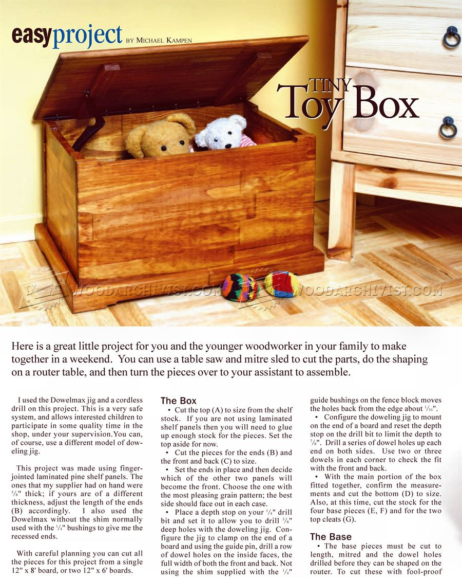 Toy Chest Plans • WoodArchivist