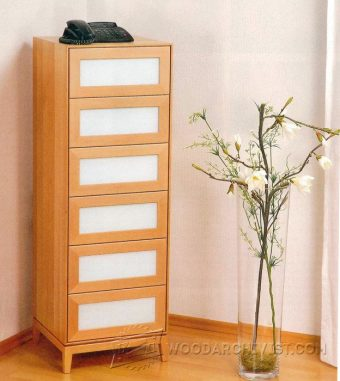 2507-Tall Chest of Drawers Plans
