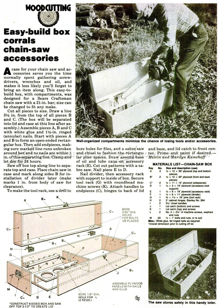 DIY Chainsaw Storage Box