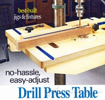 2089-Drill Press Table and Fence Plans
