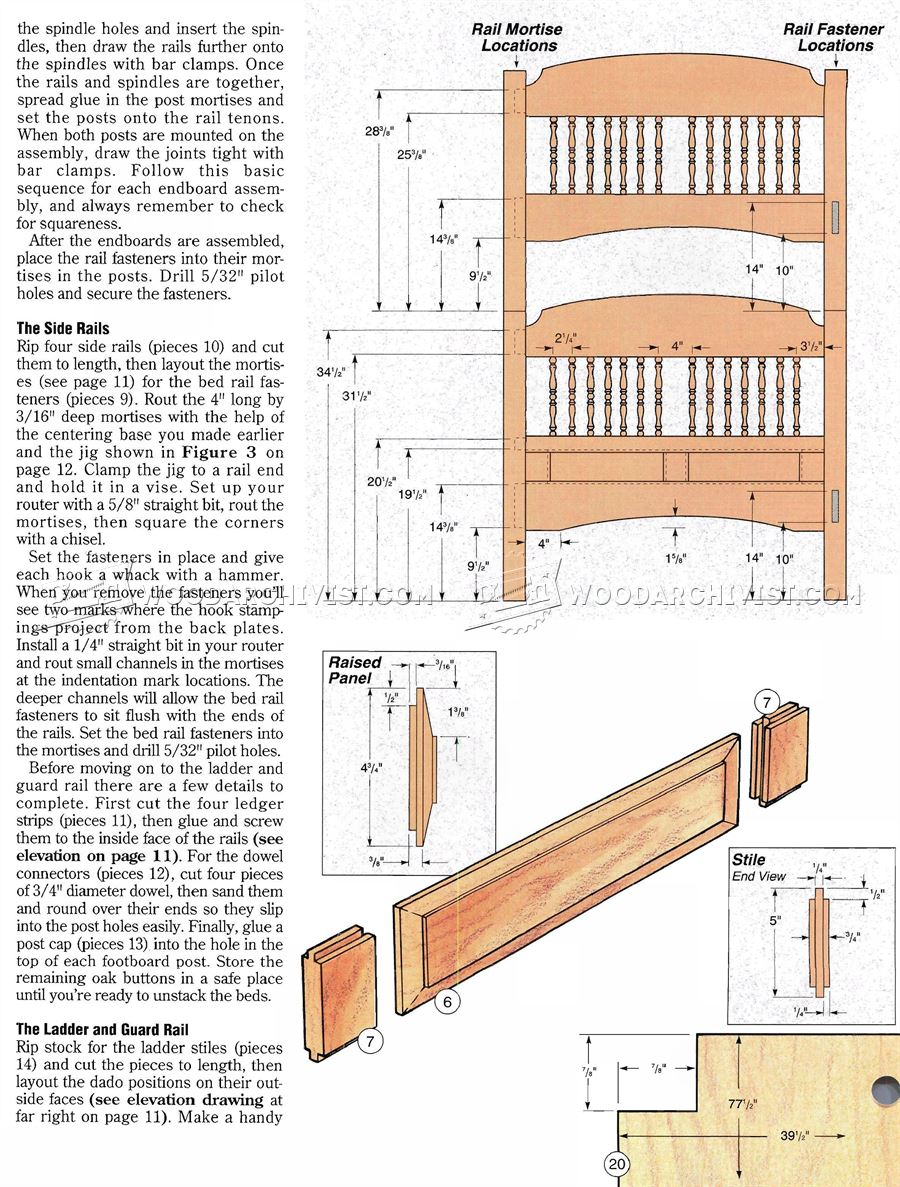 Colonial Bunk Bed Plans