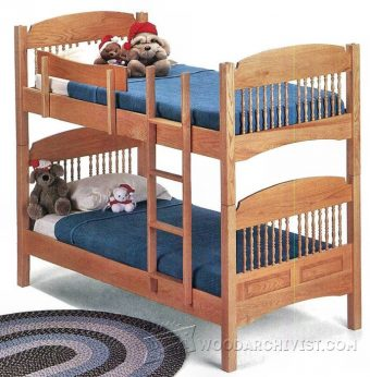 2091-Colonial Bunk Bed Plans