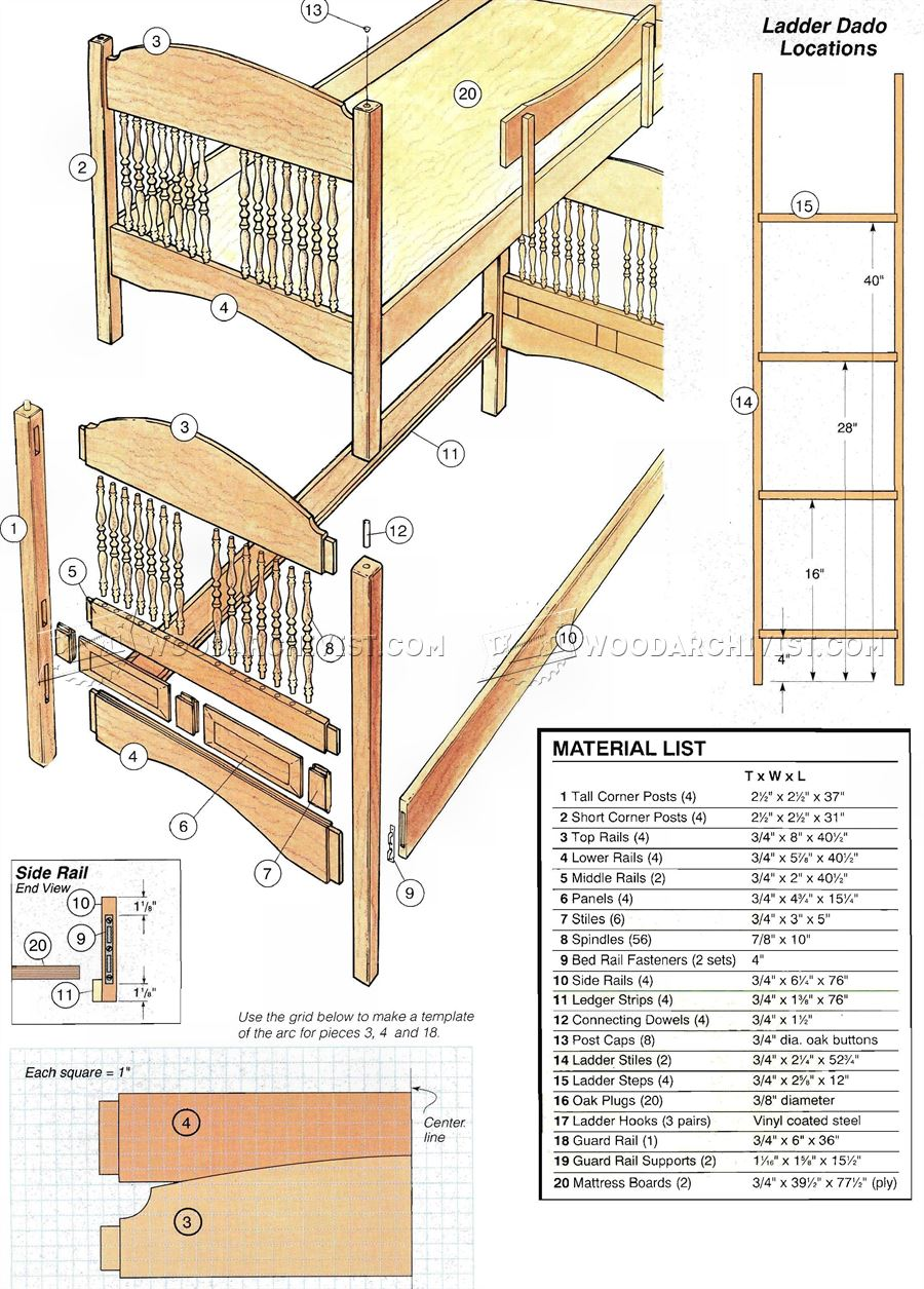 Kids bed plans 28 images kid bunk bed plans 3686 diy Loft bed plans