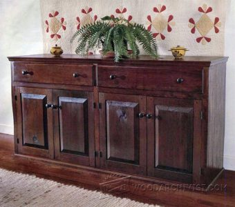 2092-Sideboard Chest Plans
