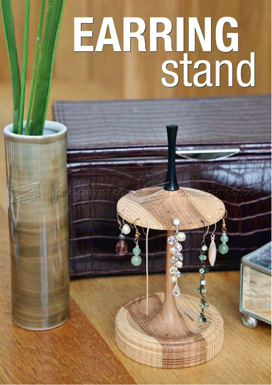 Earing Stand Woodturning Projects Woodarchivist