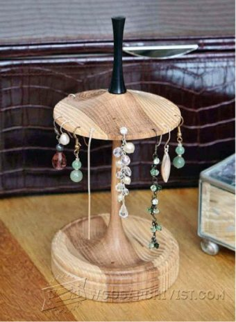 2093-Earing Stand - Woodturning Projects